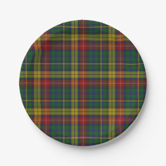Buchanan Clan Tartan Plaid Paper Plate