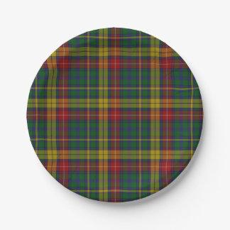 Buchanan Clan Tartan Plaid Paper Plate 7 Inch Paper Plate