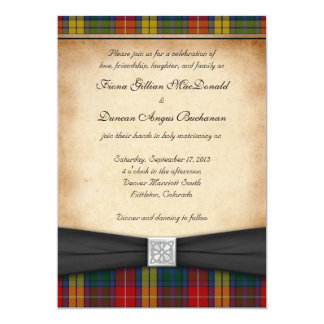 Buchanan Clan Tartan Wedding Invitation Ver 2