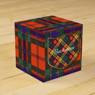 Buchanan Family clan Plaid Scottish kilt tartan Favour Box