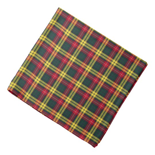 Buchanan Family Red, Yellow and Green Tartan Bandana