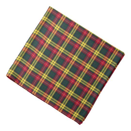 Buchanan Family Red, Yellow and Green Tartan Kerchief