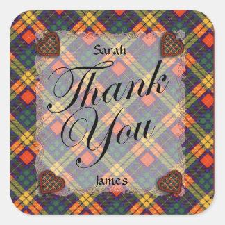 Buchanan Scottish clan tartan - Plaid Square Sticker