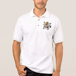 Buchanan Tartan Lion Polo Shirt