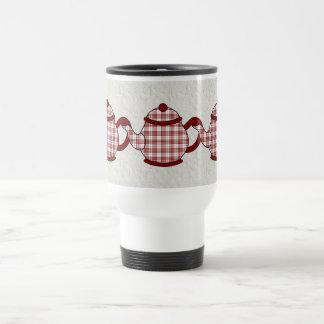 Buchanan Tartan Plaid Teapot Stainless Steel Travel Mug