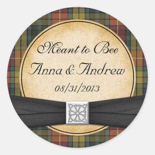 Buchanan Tartan Scottish Celtic Wedding Sticker