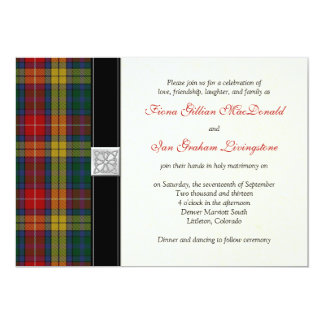 Buchanan Tartan Wedding Invitation