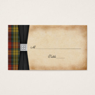 Buchanan Weathered Tartan Wedding Place Cards 2