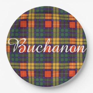 Buchanon clan Plaid Scottish tartan Paper Plate
