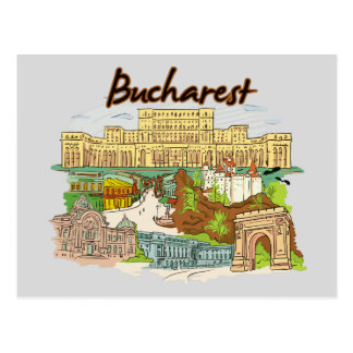 Bucharest, Romania Famous City Postcard