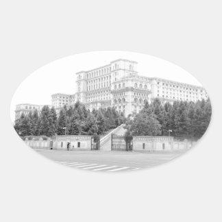 Bucharest, Romania Oval Sticker