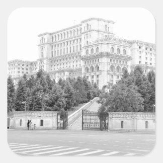 Bucharest, Romania Square Sticker
