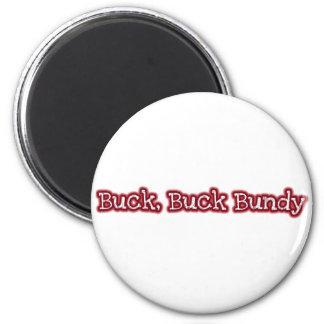 Buck 6 Cm Round Magnet