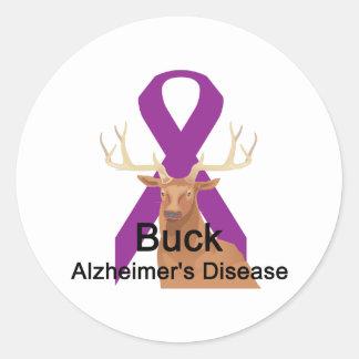Buck-Alzheimer&Apos;S-Disease Round Sticker