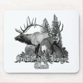 Buck and bull wildlife mouse pad