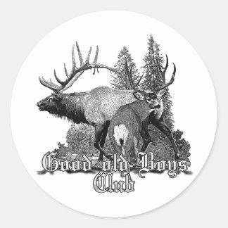 Buck and bull wildlife stickers