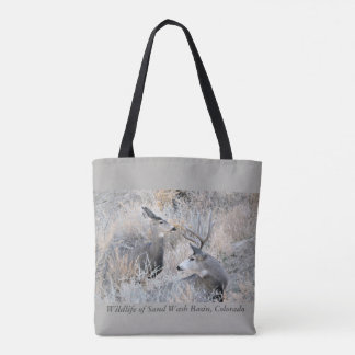 Buck and Doe at Sand Wash Basin Tote Bag