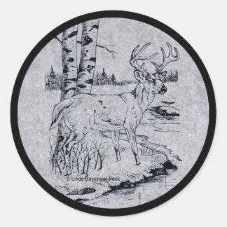 Buck Creek Round Sticker