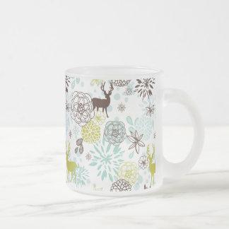 Buck Deer and Flowers Coffee Mugs