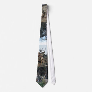 Buck deer collage tie
