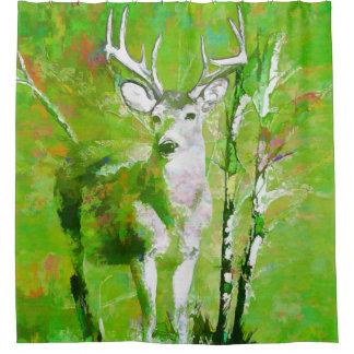 Buck Deer in Fall Colors Shower Curtain
