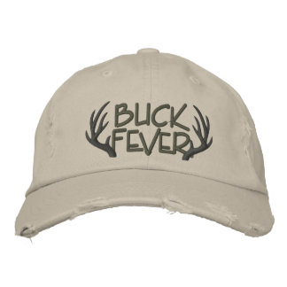 Buck Fever Embroidered Distressed Cap Embroidered Hat