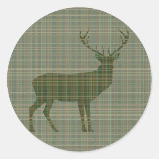 Buck Green Plaid Sticker