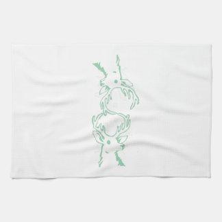 Buck Head Outline Tea Towel