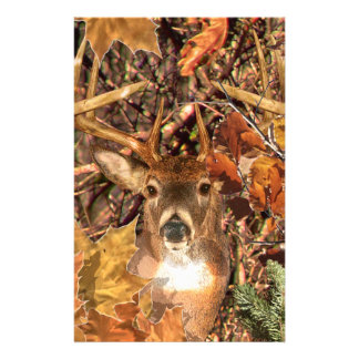 Buck in Camo White Tail Deer Stationery