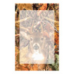 Buck in Fall Camo White Tail Deer Stationery Paper