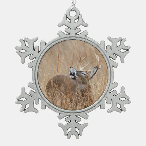 Buck in the Grass Ornament