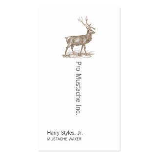 Buck Mule Deer Letterpress Style Pack Of Standard Business Cards
