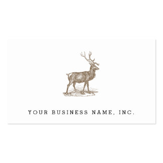 Buck Mule Deer Letterpress Style Pack Of Standard Business Cards