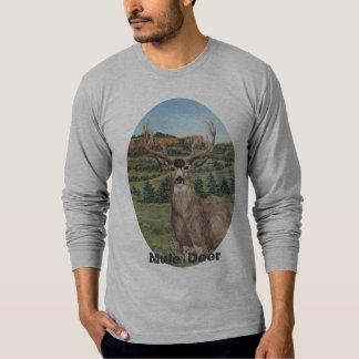Buck Mule Deer Wildlife Art T Shirts