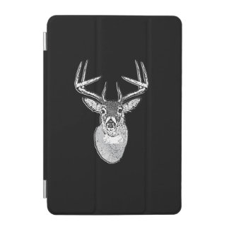 Buck on Black White Tail Deer head iPad Mini Cover