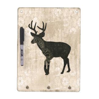 Buck Silhouette Love  Dry Erase Board