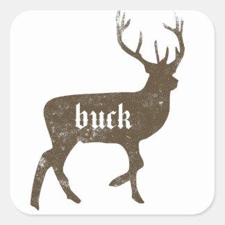 BUCK SQUARE STICKER