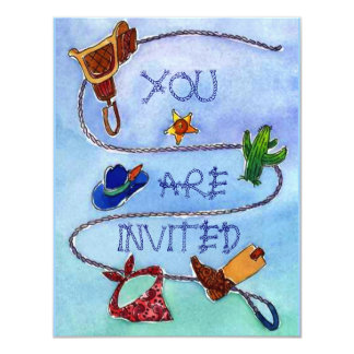 BUCKAROO BIRTHDAY PARTY INVITATION ~ EZ2 CUSTOMIZE