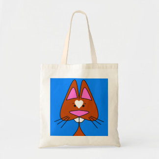 Bucked Tooth Kitty Doodle Budget Tote Bag