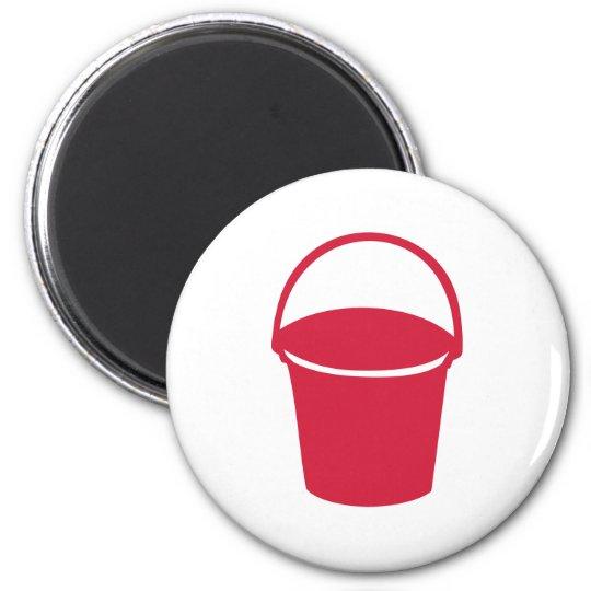 Bucket 6 Cm Round Magnet