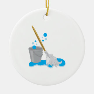 Bucket And Mop Christmas Ornament
