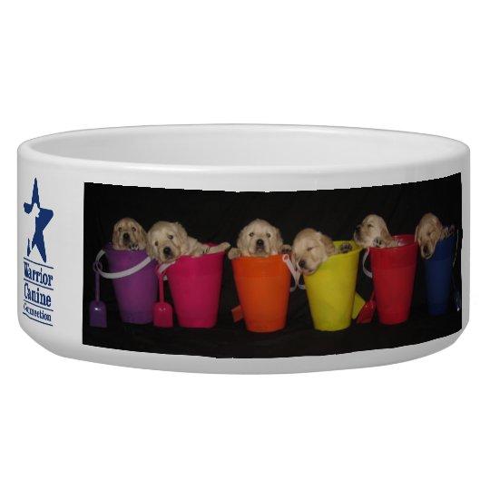 Bucket and Pawprint Bowl Pet Food Bowl