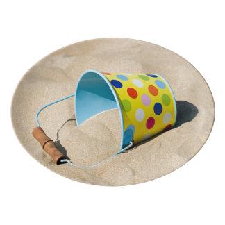 Bucket And Sand Porcelain Serving Platter