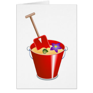 Bucket and Spade Card