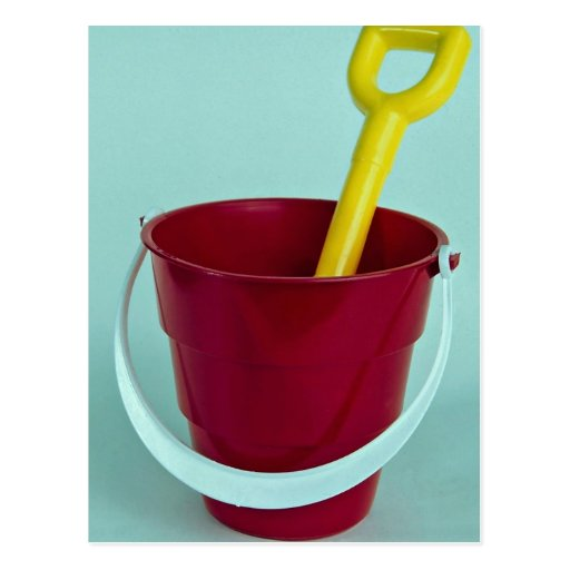 Bucket and spade post card
