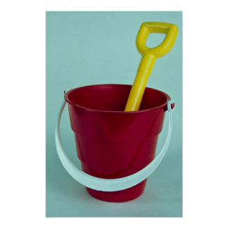 Bucket and spade posters