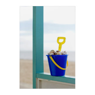 Bucket Filled With Seashells Acrylic Print
