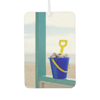 Bucket Filled With Seashells Car Air Freshener