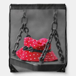 Bucket Hat on Kids Swing Drawstring Bag