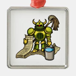 Bucket Knight Christmas Ornament